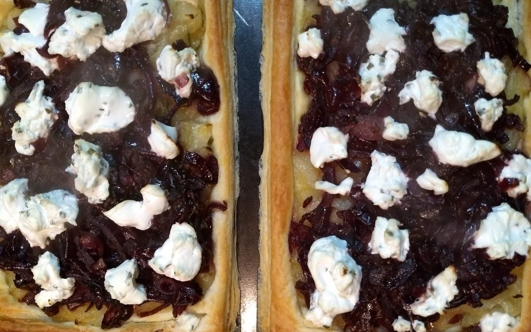 Goat's Cheese & Onion Tart Recipe