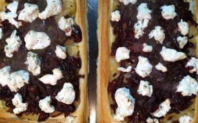 Goat's Cheese & Onion Tart Recipe